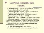 activitati extracurriculare clasele i