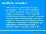 side note 2 remediation
