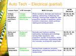 auto tech electrical partial