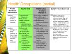 health occupations partial