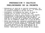 preparacion y calculos preliminares de la probeta