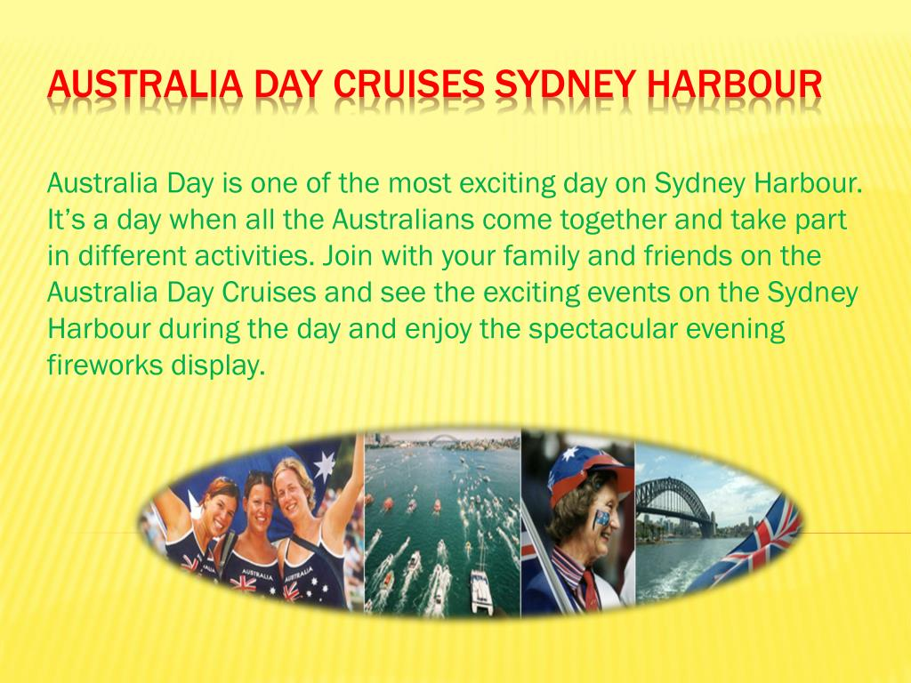 australia day cruises sydney harbour l.