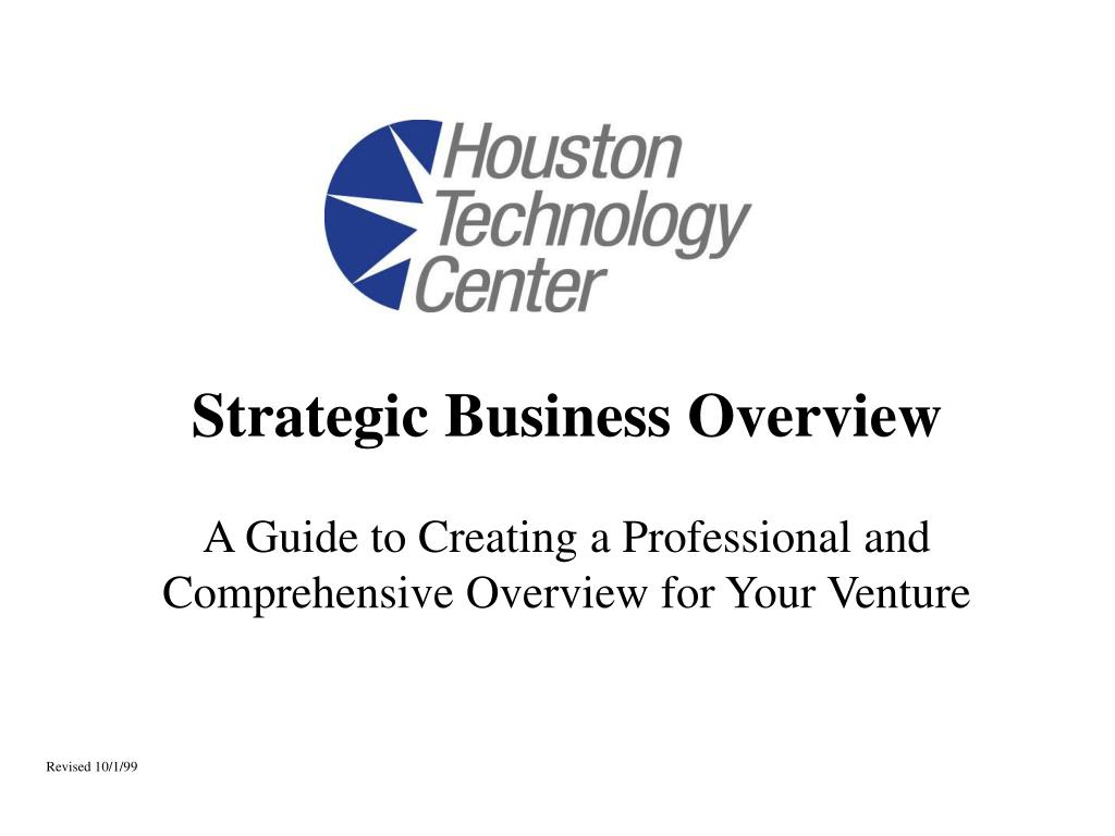 strategic business overview l.