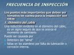 frecuencia de inspecci n33
