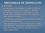 frecuencia de inspecci n37