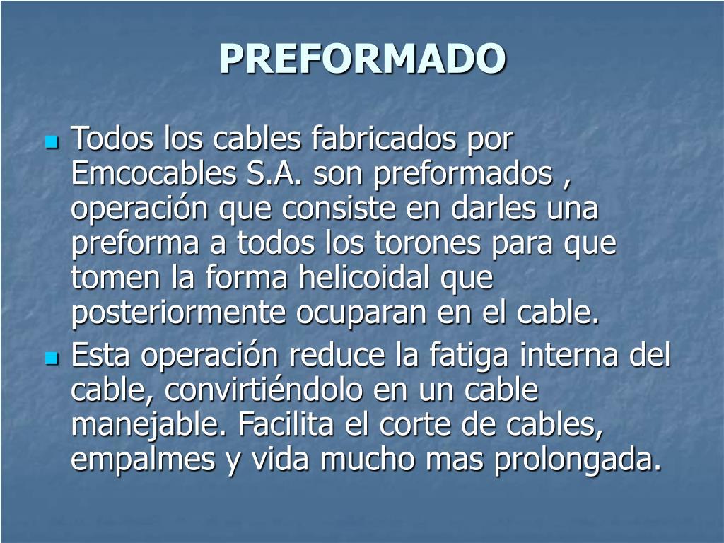 PREFORMADO