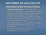 sectores de aplicaci n57