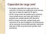 capacidad de carga axial