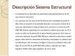 descripci n sistema estructural