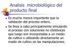 analisis microbiol gico del producto final