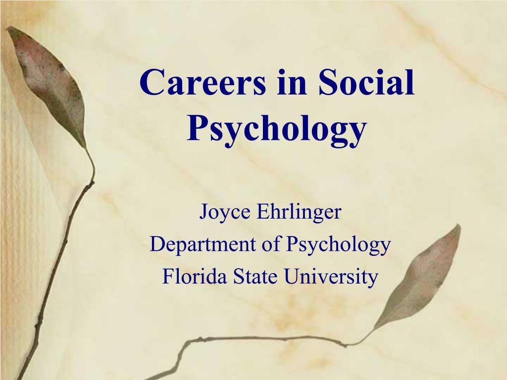 careers in social psychology l.
