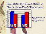 error rates by police officers in plant s shoot don t shoot game