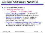 association rule discovery application 1