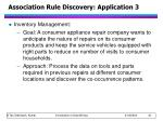 association rule discovery application 3