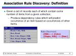 association rule discovery definition