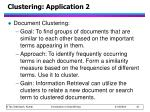 clustering application 2