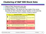 clustering of s p 500 stock data