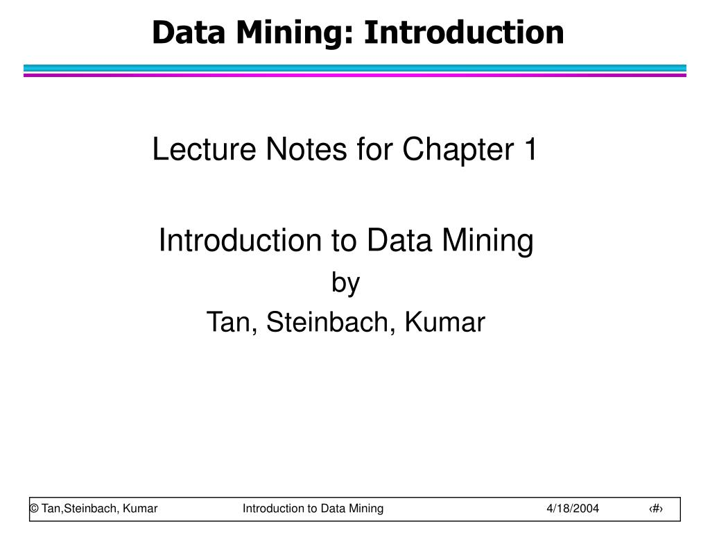 data mining introduction l.
