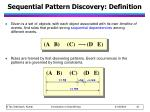 sequential pattern discovery definition