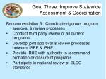 goal three improve statewide assessment coordination11