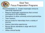 goal two focus preparation programs8