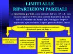 limiti alle ripartizioni parziali