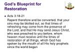 god s blueprint for restoration