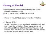history of the ark