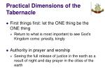 practical dimensions of the tabernacle