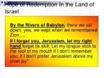 hope of redemption in the land of israel
