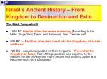 israel s ancient history from kingdom to destruction and exile