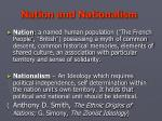 nation and nationalism