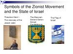 symbols of the zionist movement and the state of israel