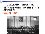 the declaration of the establishment of the state of israel may 14 1948