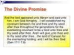 the divine promise