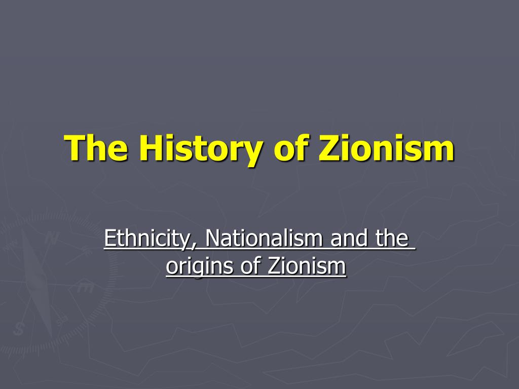 the history of zionism l.