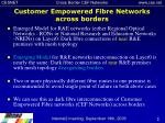 customer empowered fibre networks across borders