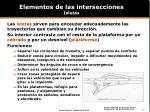 elementos de las intersecciones isletas
