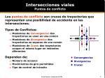 intersecciones viales puntos de conflicto