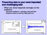 presenting data is your most important and challenging task24