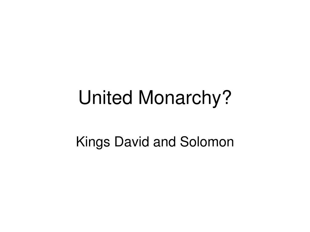 united monarchy l.
