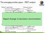 the emerging market space pest analysis