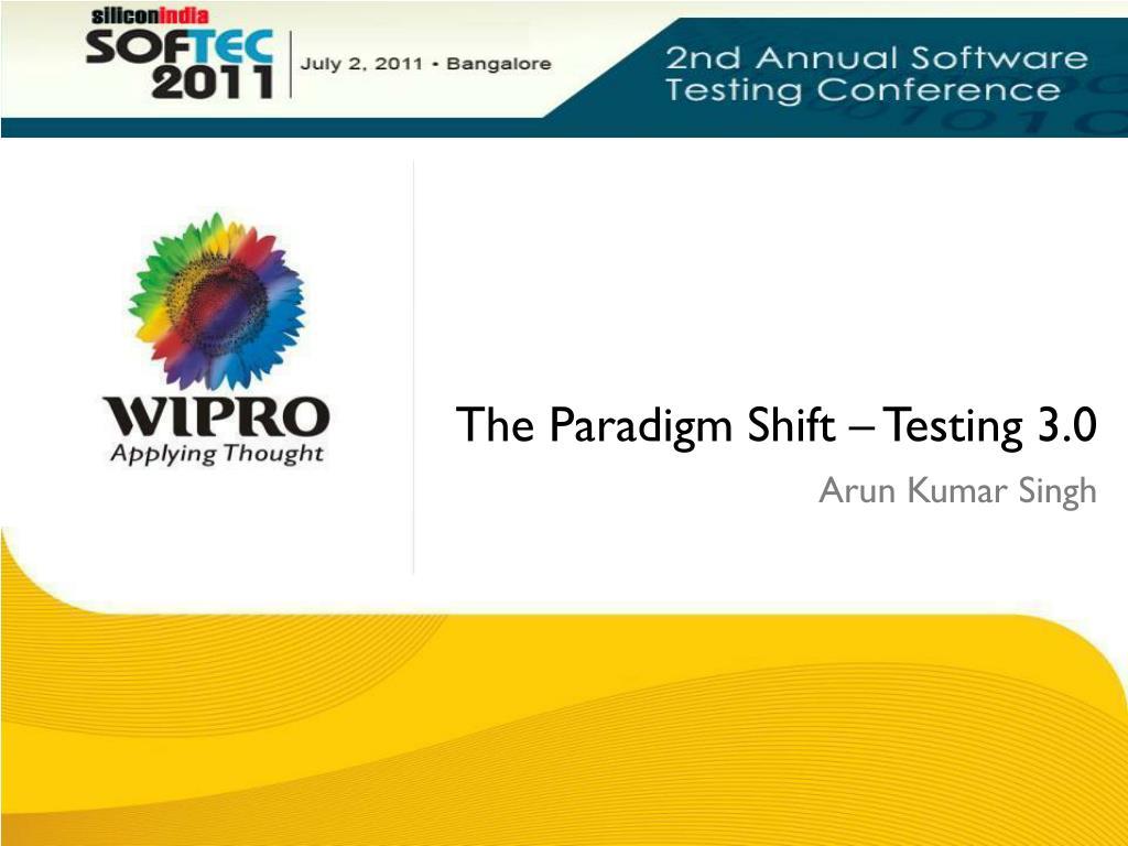 the paradigm shift testing 3 0 l.
