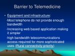 barrier to telemedicine