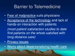 barrier to telemedicine18
