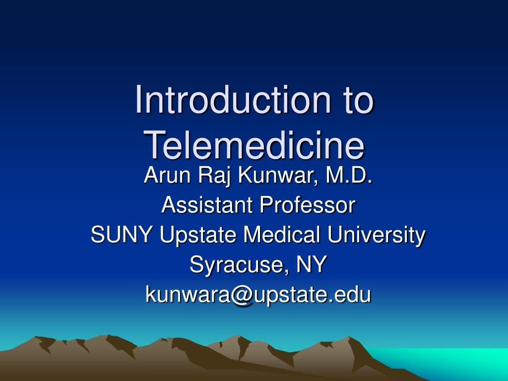 introduction to telemedicine l.