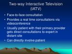 two way interactive television iatv