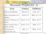 messianic prophecies 6