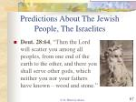 predictions about the jewish people the israelites