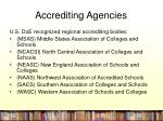 accrediting agencies